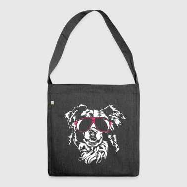 Border Collie cool - Shoulder Bag made from recycled material