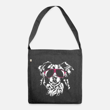 Border Collie Border Collie cool - Shoulder Bag made from recycled material