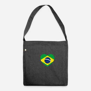 Brazilian Brazilian heart - Shoulder Bag made from recycled material