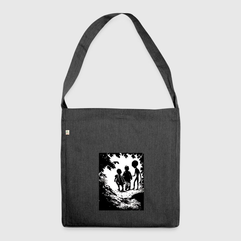 Alien abduction - Shoulder Bag made from recycled material