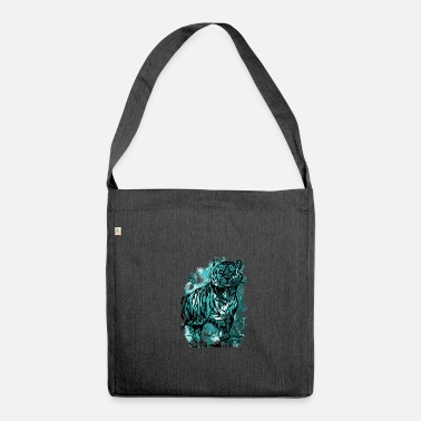 Cat Tiger cat tiger cat big cat gift - Shoulder Bag made from recycled material