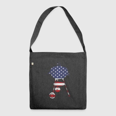 BBQ stars and stripes - Schultertasche aus Recycling-Material