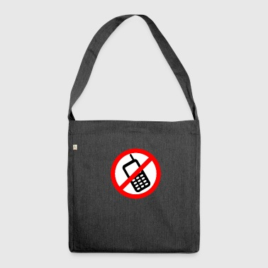 Mobile phone ban Switch off mobile phone - Shoulder Bag made from recycled material
