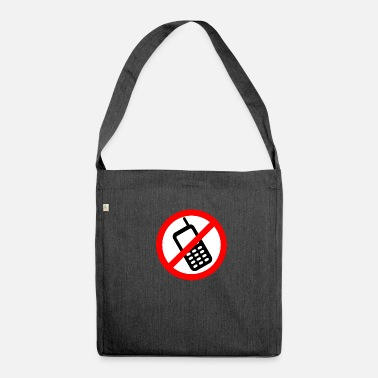 Mobile Phone Mobile phone ban Switch off mobile phone - Shoulder Bag recycled