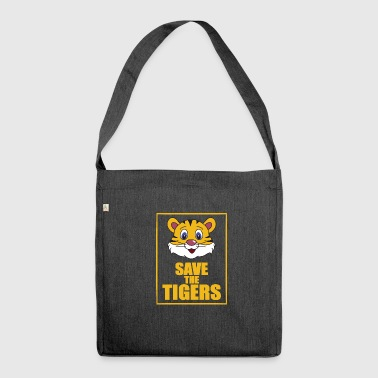 Save the Tigers - Save the Tiger - Shoulder Bag made from recycled material