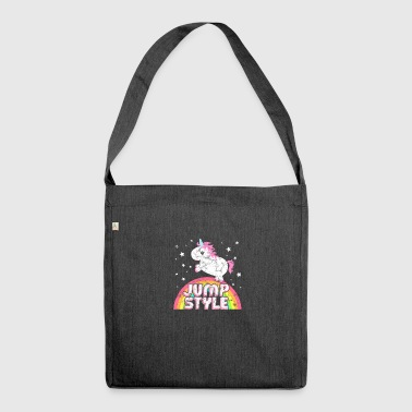 Jumpstyle Raffreddare ironico musica Jumpstyle Unicorn - Borsa in materiale riciclato