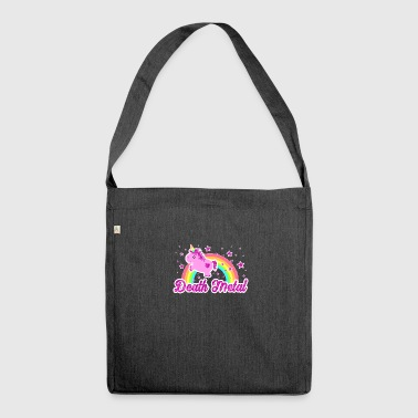 Cool Ironic Death Metal music unicorn shirt - Shoulder Bag made from recycled material