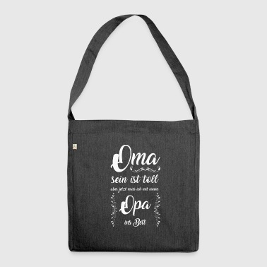 Oma Oma Bett - Schultertasche aus Recycling-Material