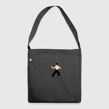 Bruce lee pose - Shoulder Bag made from recycled material