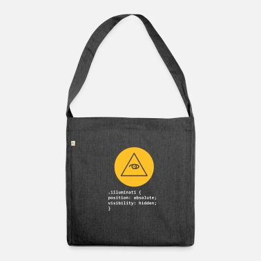 Illuminati CSS Pun: Illuminati - Shoulder Bag made from recycled material