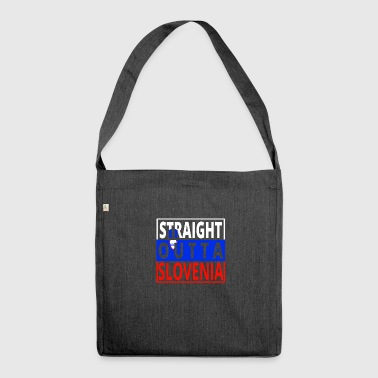 Straight outta SLOVENIA Slovenia - Shoulder Bag made from recycled material