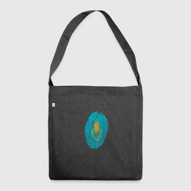 Kazakhstan Fingerprint i love Kazakhstan Kazakhstan - Shoulder Bag made from recycled material
