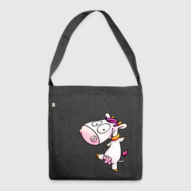 cow - dancing - Schultertasche aus Recycling-Material