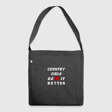 country girls - Schultertasche aus Recycling-Material