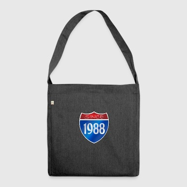 Since 1988 - Schultertasche aus Recycling-Material