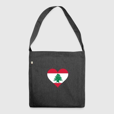 A Heart For Lebanon - Shoulder Bag made from recycled material