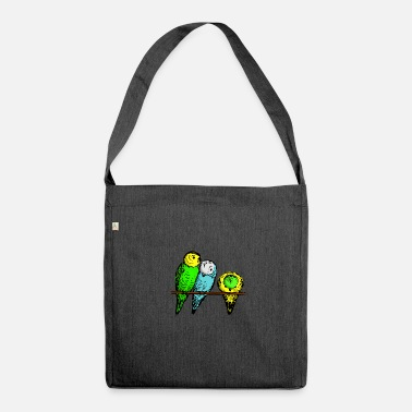 Budgie budgies - Shoulder Bag made from recycled material