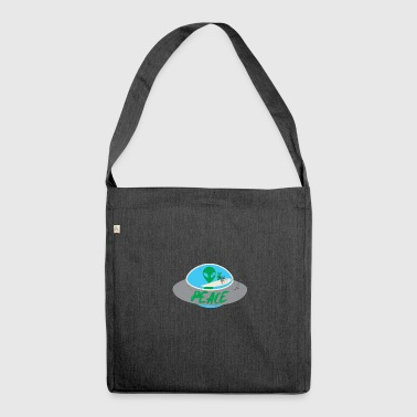 Alien / Area 51 / UFO: Peace - Shoulder Bag made from recycled material