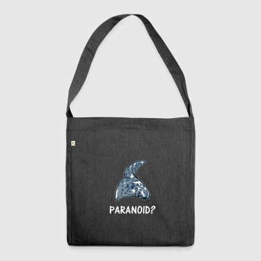 Paranoid Paranoid? tin foil hat - Shoulder Bag made from recycled material