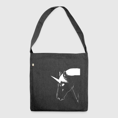 Unicorn white mythical creature - Shoulder Bag made from recycled material