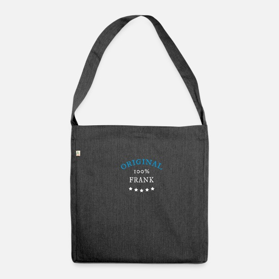 Frank Bags & Backpacks - Original 100% Frank, gift, - Shoulder Bag recycled heather black
