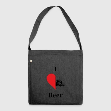I love Beer - Schultertasche aus Recycling-Material