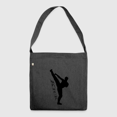 High kick kick black - Shoulder Bag made from recycled material