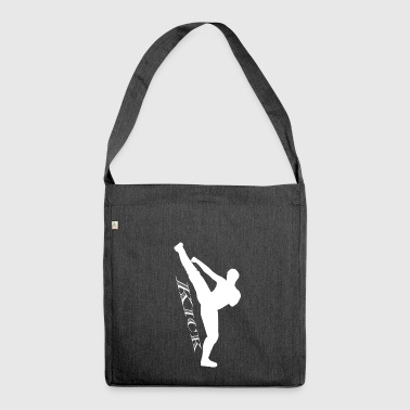 High kick Kick white - Shoulder Bag made from recycled material
