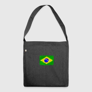 Brazilian flag InWatercolours - Shoulder Bag made from recycled material