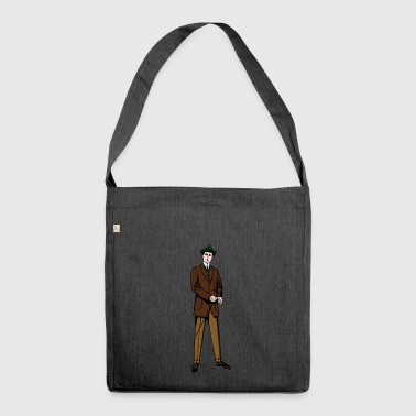 Suit suit - Shoulder Bag made from recycled material