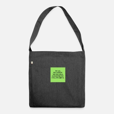 Motivation motivation - Shoulder Bag made from recycled material