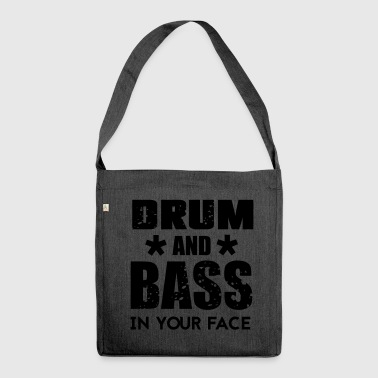 Bass Drum n Bass Music - Shoulder Bag made from recycled material