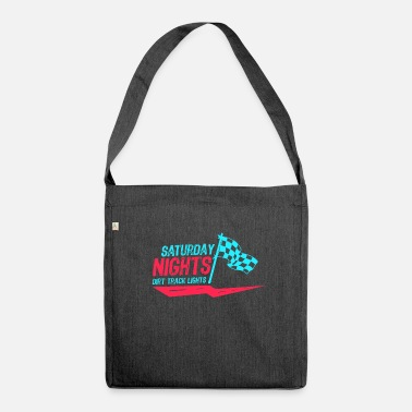 Motor Race Car Racing Motor Race Gift sabato sera - Borsa in materiale riciclato