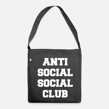 Sociale Anti social club sociale - Borsa in materiale riciclato