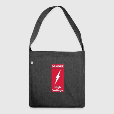 Danger High Voltage 2c - Shoulder Bag made from recycled material