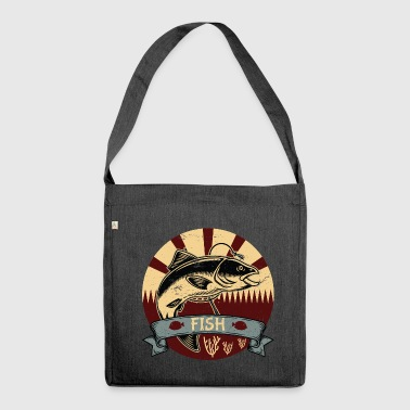 Fishing propaganda - Shoulder Bag made from recycled material