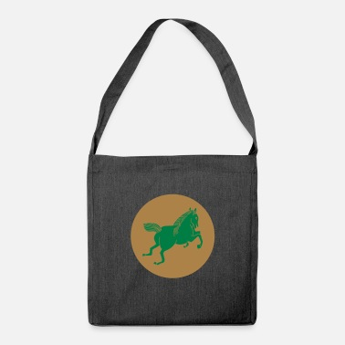 Backwards horse logo backwards backwards - Shoulder Bag made from recycled material
