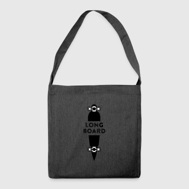 Longboard Longboarder - Shoulder Bag made from recycled material