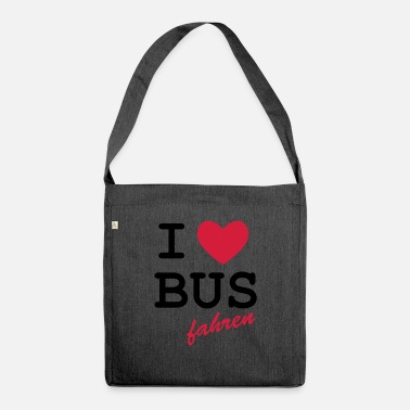 Loret I Love bus travel - Shoulder Bag recycled