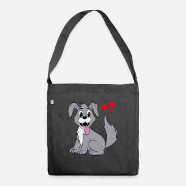 Cute Cute dog - Shoulder Bag recycled