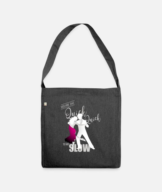 Festival Bags & Backpacks - Great Dance Quick W Dance Shirt Gift Tee - Shoulder Bag recycled heather black