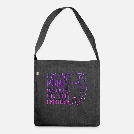 Cat Bags & Backpacks - Cats Practical - Shoulder Bag recycled heather black