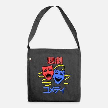 Tragedy comedy and tragedy - Shoulder Bag recycled