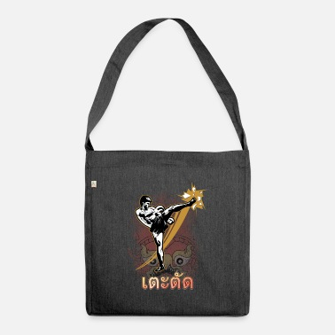 Thai Roundhouse Kick Muay Thai Thaiboxing Martial Arts - Shoulder Bag recycled