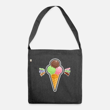 Ice-cream-cone ice cream cone - Shoulder Bag recycled