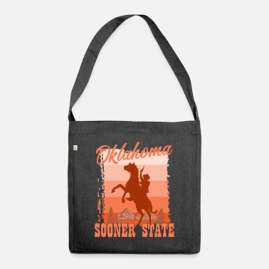 City Oklahoma emigrating to America holiday gift - Shoulder Bag recycled