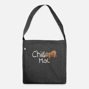 Chill Mal | sleepy chilled Grizzly Bear - Shoulder Bag recycled
