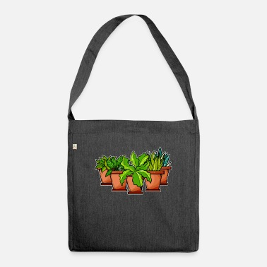 Plant-grounds plants - Shoulder Bag recycled