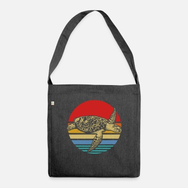 Shell Turtle sea - Shoulder Bag recycled