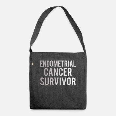 Endometrial Cancer Awareness Endometrial Cancer: Endometrial Cancer Survivor - Shoulder Bag recycled